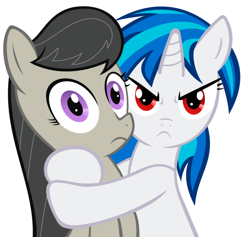 Vinyl Scratch And Octavia CuteVinyl Scratch And Octavia Cute