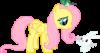 Пони Флаттершай из мультфильма My Little Pony. фото.